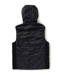 Vince Camuto - Black Quilted Nylon Full-zip Vest for Men - Lyst