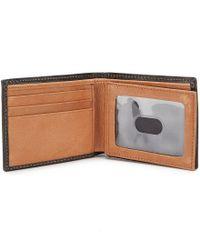 Johnston & Murphy - Black Flip Billfold Wallet for Men - Lyst