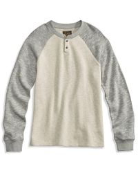 Lucky Brand - Gray French Rib Long-sleeve Raglan Pullover for Men - Lyst