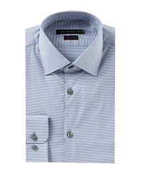 John Varvatos - Blue Star Usa Regular Fit Spread Collar Micro Checked Dress Shirt for Men - Lyst