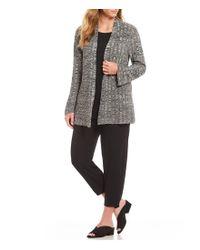 Eileen Fisher - Black Plus Size Simple Cardigan - Lyst