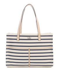 Kate Spade - Multicolor Washington Square Mega Sam Stripe Canvas Satchel - Lyst