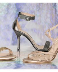 Pelle Moda - Brown Kacey Ankle-strap Rhinestone Dress Sandals - Lyst