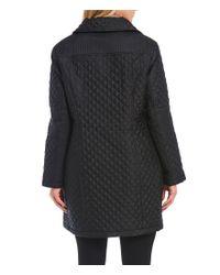 MICHAEL Michael Kors - Black Plus Diamond Quilted Jacket - Lyst
