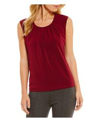 Kasper | Red Sleeveless Knit Top | Lyst