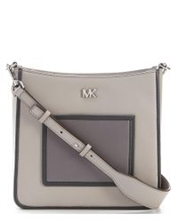 MICHAEL Michael Kors - Gray Gloria Pocket Cross-body Bag - Lyst