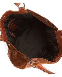 Frye - Brown Melissa Whip-stitched Shoulder Bag - Lyst