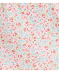 Karen Neuburger - Multicolor Ditsy Henley Sleepshirt - Lyst