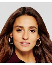 Kenneth Cole - Metallic Textured Hoop Earrings - Lyst