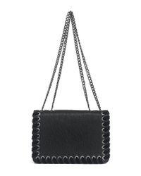 Jessica Simpson | Black Zamia Velvet Whip-stitched Convertible Cross-body Bag | Lyst