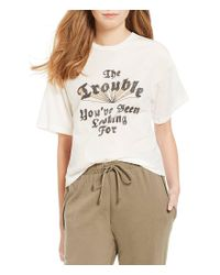 Comune - White Michelle By Blairsville Trouble You've Been Looking For Graphic Tee - Lyst