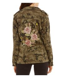 Gianni Bini Multicolor Ryan Military Button Front Jacket