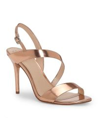 Vince Camuto | Costina Metallic Leather Dress Sandals | Lyst