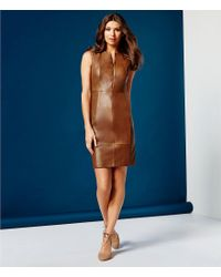 Antonio Melani Blue King Leather Dress