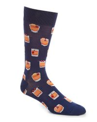 Hot Sox - Blue Old Fashioned Crew Socks for Men - Lyst