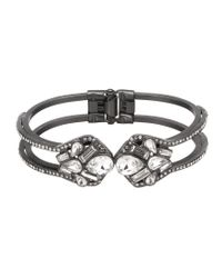 Belle By Badgley Mischka - Metallic Geometric Stone Hinge Bracelet - Lyst