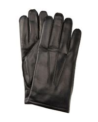 Fownes - Black Thinsulate-lined Leather Gloves - Lyst