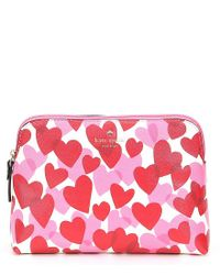 Kate Spade Multicolor Yours Truly Valentine's Day Briley Cosmetic Bag