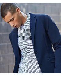 Perry Ellis - Black Diagonal Abstract Stripe Short-sleeve Polo Shirt for Men - Lyst