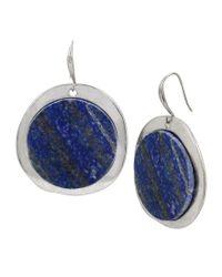 Robert Lee Morris - Blue Semiprecious Lapis Drop Earrings - Lyst