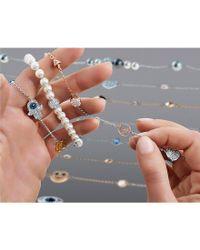 Swarovski - Metallic Remix Collection Crystal Circle Line Bracelet - Lyst