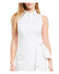 Antonio Melani - White Willow Poplin Wrap Dress - Lyst