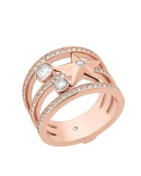 Michael Kors - Pink Beyond Brilliant Celestial Ring - Lyst