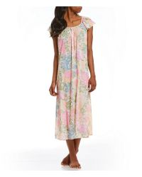 Miss Elaine - Multicolor Tricot Long Nightgown - Lyst