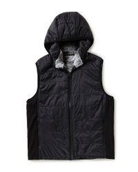 Vince Camuto - Black Quilted Nylon Full-zip Vest for Men - Lyst