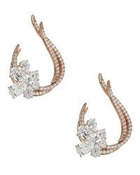 Nadri - Metallic Duet Cubic Zirconia Front/back Earrings - Lyst