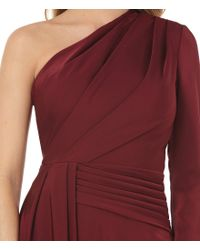 Kay Unger - Blue One Shoulder Draped A-line Gown - Lyst