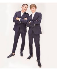 Murano - Black Wardrobe Essestials Evan Extra Slim Flat Front Dress Pants for Men - Lyst
