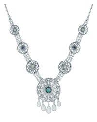 Lucky Brand - Metallic Jade Statement Necklace - Lyst