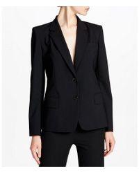 Donna Karan - Black Tropical Wool Blazer - Lyst