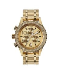 Nixon - Metallic The 38-20 Crystal Bezel Stainless Steel 6 Hand Chronograph Watch - Lyst