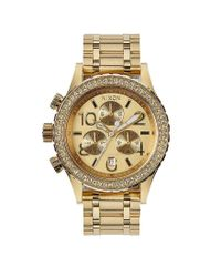 Nixon | Metallic The 38-20 Crystal Bezel Stainless Steel 6 Hand Chronograph Watch | Lyst