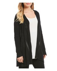 Eileen Fisher - Black Simple Cardigan - Lyst