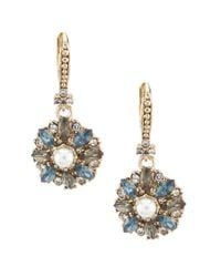 Marchesa - Blue Small Drop Earrings - Lyst