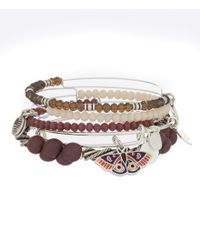 ALEX AND ANI - Metallic Moth Art Infusion 5-piece Bangle Bracelet Set - Lyst