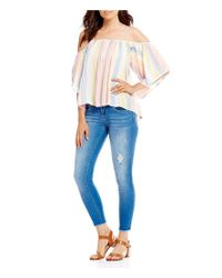 Billabong - Multicolor Forever Striped Cold Shoulder Top - Lyst