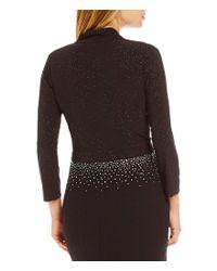 Calvin Klein - Black Glitter Shrug - Lyst