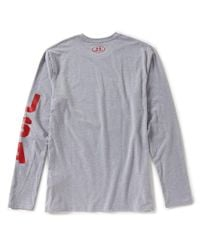 Under Armour - Gray Long-sleeve Usa Patriot T-shirt for Men - Lyst