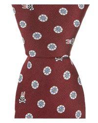 "Psycho Bunny - Red Bunny Wheel Traditional 3.25"" Silk Tie for Men - Lyst"