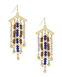 Jessica Simpson - Metallic Home Grown Fashion Beaded Drop Earrings - Lyst