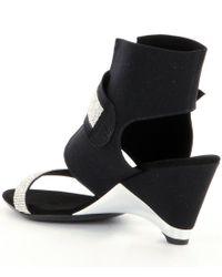Onex - Black Celebrity Rhinestone Ankle Strap Dress Sandals - Lyst