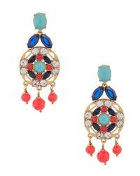 Kate Spade - Multicolor Jeweled Tile Statement Drop Earrings - Lyst