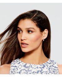 Lauren by Ralph Lauren - Metallic Silvertone Hoop Earrings - Lyst