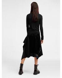 DKNY - Black Long Sleeve Jersey Top - Lyst
