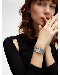DKNY - Metallic Stonewall Mesh 25mm Stainless Steel Watch - Lyst
