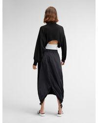 DKNY - Black Pure Fishtail Skirt With Elastic Logo Waistband - Lyst